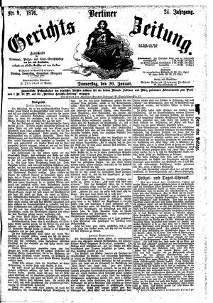 Berliner Gerichts-Zeitung vom 20.01.1876