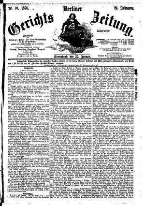Berliner Gerichts-Zeitung vom 22.01.1876
