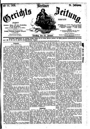 Berliner Gerichts-Zeitung vom 25.01.1876