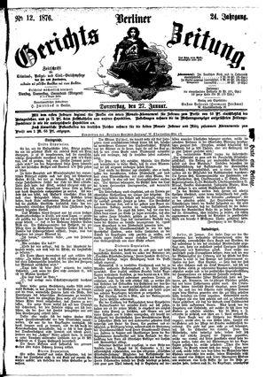 Berliner Gerichts-Zeitung vom 27.01.1876