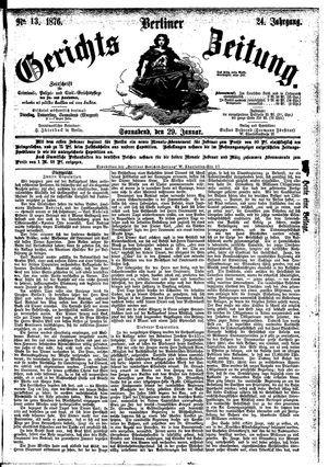 Berliner Gerichts-Zeitung vom 29.01.1876
