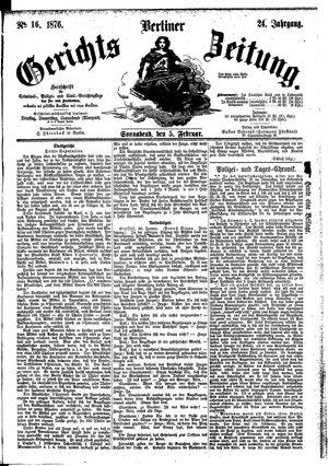 Berliner Gerichts-Zeitung vom 05.02.1876