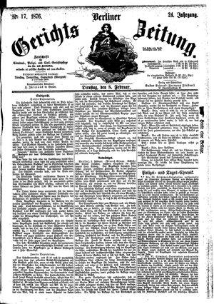 Berliner Gerichts-Zeitung vom 08.02.1876