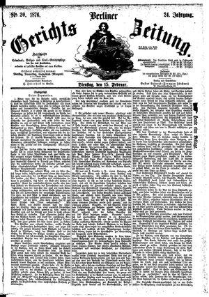 Berliner Gerichts-Zeitung vom 15.02.1876