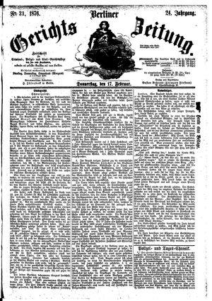 Berliner Gerichts-Zeitung vom 17.02.1876