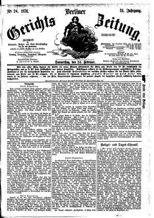 Berliner Gerichts-Zeitung vom 24.02.1876