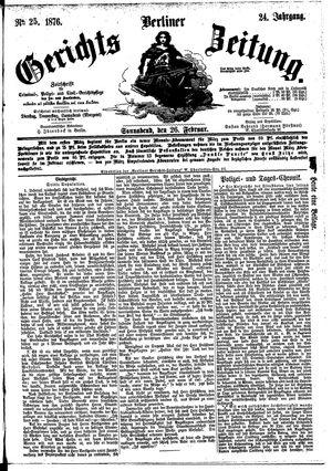 Berliner Gerichts-Zeitung vom 26.02.1876
