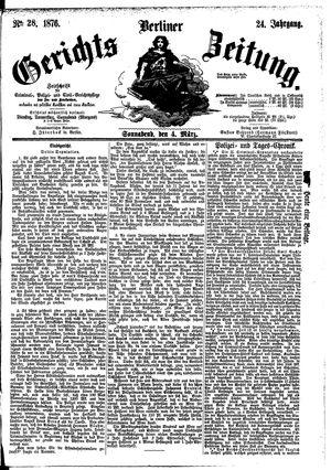 Berliner Gerichts-Zeitung on Mar 4, 1876