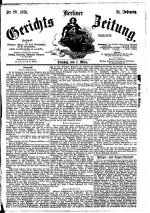 Berliner Gerichts-Zeitung vom 07.03.1876