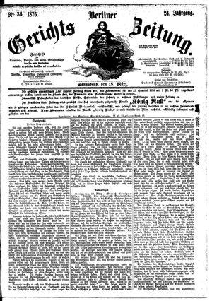 Berliner Gerichts-Zeitung vom 18.03.1876