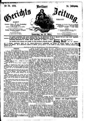 Berliner Gerichts-Zeitung vom 23.03.1876
