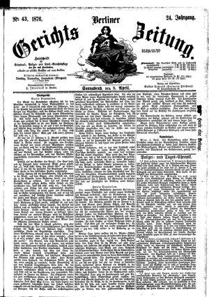 Berliner Gerichts-Zeitung vom 08.04.1876
