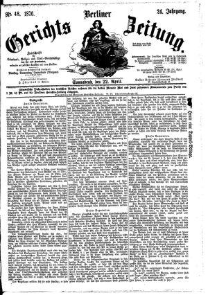 Berliner Gerichts-Zeitung vom 22.04.1876
