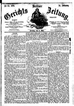 Berliner Gerichts-Zeitung vom 02.05.1876