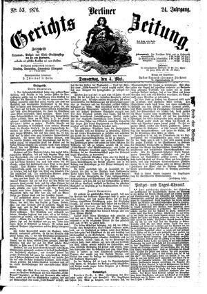 Berliner Gerichts-Zeitung vom 04.05.1876