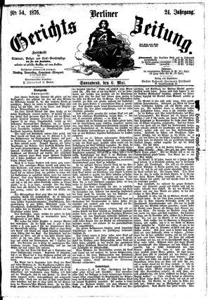 Berliner Gerichts-Zeitung vom 06.05.1876