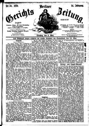 Berliner Gerichts-Zeitung vom 09.05.1876