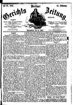 Berliner Gerichts-Zeitung vom 13.05.1876