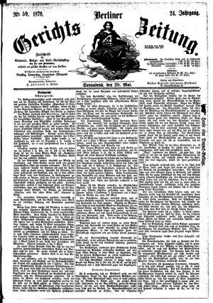 Berliner Gerichts-Zeitung vom 20.05.1876