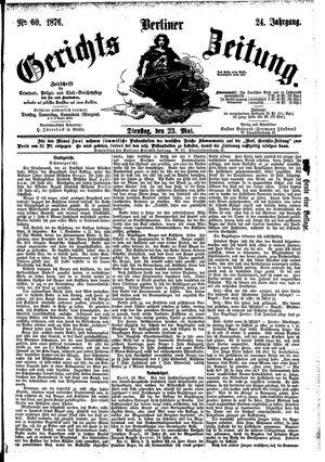 Berliner Gerichts-Zeitung vom 23.05.1876