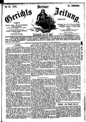 Berliner Gerichts-Zeitung vom 27.05.1876