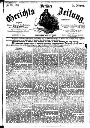 Berliner Gerichts-Zeitung vom 24.06.1876