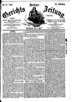 Berliner Gerichts-Zeitung vom 01.07.1876