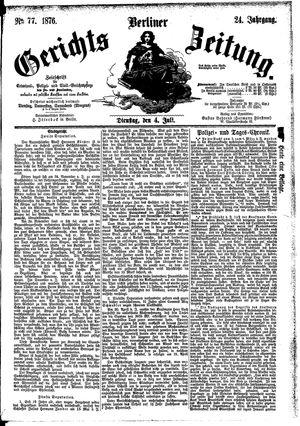 Berliner Gerichts-Zeitung vom 04.07.1876