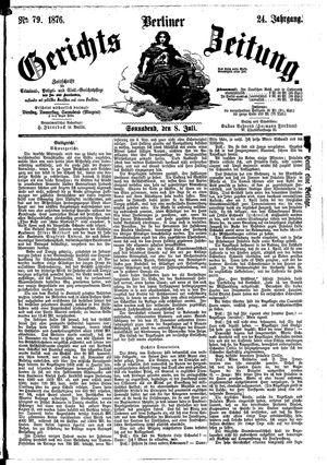 Berliner Gerichts-Zeitung vom 08.07.1876