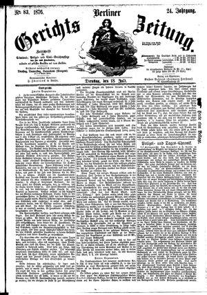 Berliner Gerichts-Zeitung vom 18.07.1876