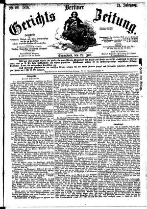 Berliner Gerichts-Zeitung vom 29.07.1876