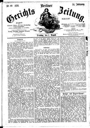 Berliner Gerichts-Zeitung vom 01.08.1876