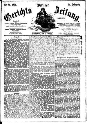Berliner Gerichts-Zeitung vom 05.08.1876
