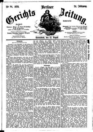 Berliner Gerichts-Zeitung vom 12.08.1876