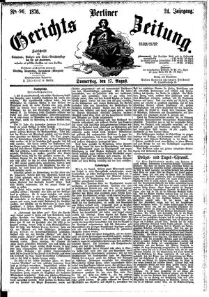 Berliner Gerichts-Zeitung vom 17.08.1876