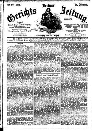 Berliner Gerichts-Zeitung vom 24.08.1876