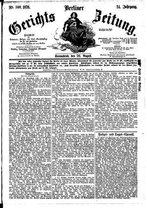 Berliner Gerichts-Zeitung vom 26.08.1876