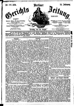 Berliner Gerichts-Zeitung vom 29.08.1876