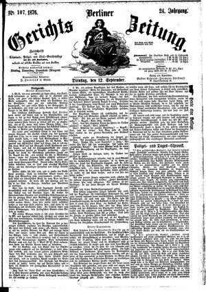 Berliner Gerichts-Zeitung vom 12.09.1876