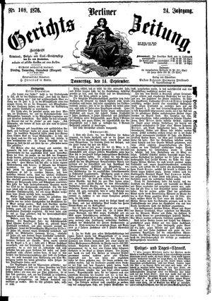 Berliner Gerichts-Zeitung vom 14.09.1876