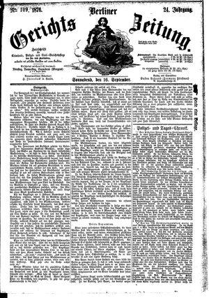 Berliner Gerichts-Zeitung vom 16.09.1876