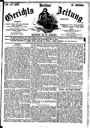 Berliner Gerichts-Zeitung vom 23.09.1876