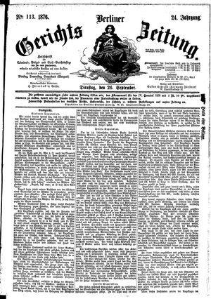 Berliner Gerichts-Zeitung vom 26.09.1876