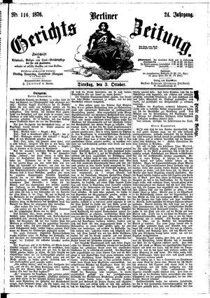 Berliner Gerichts-Zeitung vom 03.10.1876