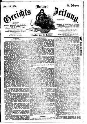 Berliner Gerichts-Zeitung vom 10.10.1876