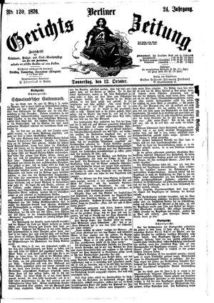Berliner Gerichts-Zeitung vom 12.10.1876