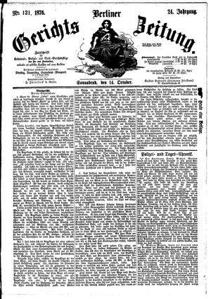 Berliner Gerichts-Zeitung vom 14.10.1876