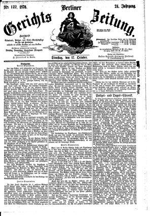 Berliner Gerichts-Zeitung vom 17.10.1876