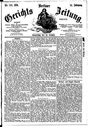 Berliner Gerichts-Zeitung vom 19.10.1876