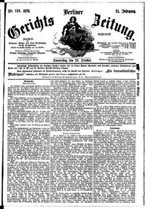 Berliner Gerichts-Zeitung vom 26.10.1876